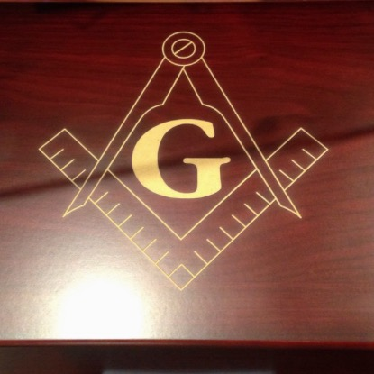 FREEMASON Laser Engraved Cigar Humidor