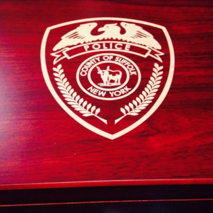 SUFFOLK COUNTY P.D. Engraved Cigar Humidor