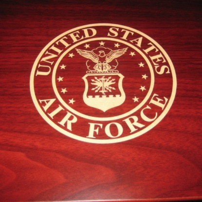 U.S. AIR FORCE Laser Engraved Desktop Cigar Humidor