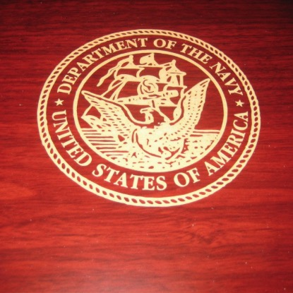 U.S. NAVY Laser Engraved Desktop Cigar Humidor